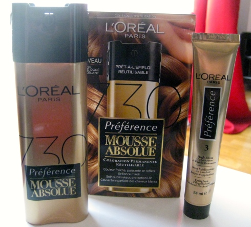 Kit Coloration Preference Mousse Absolue n°730 L'Oreal Paris Melting Pot Au Feminin